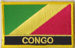Congo Brazzaville Embroidered Flag Patch, style 09.